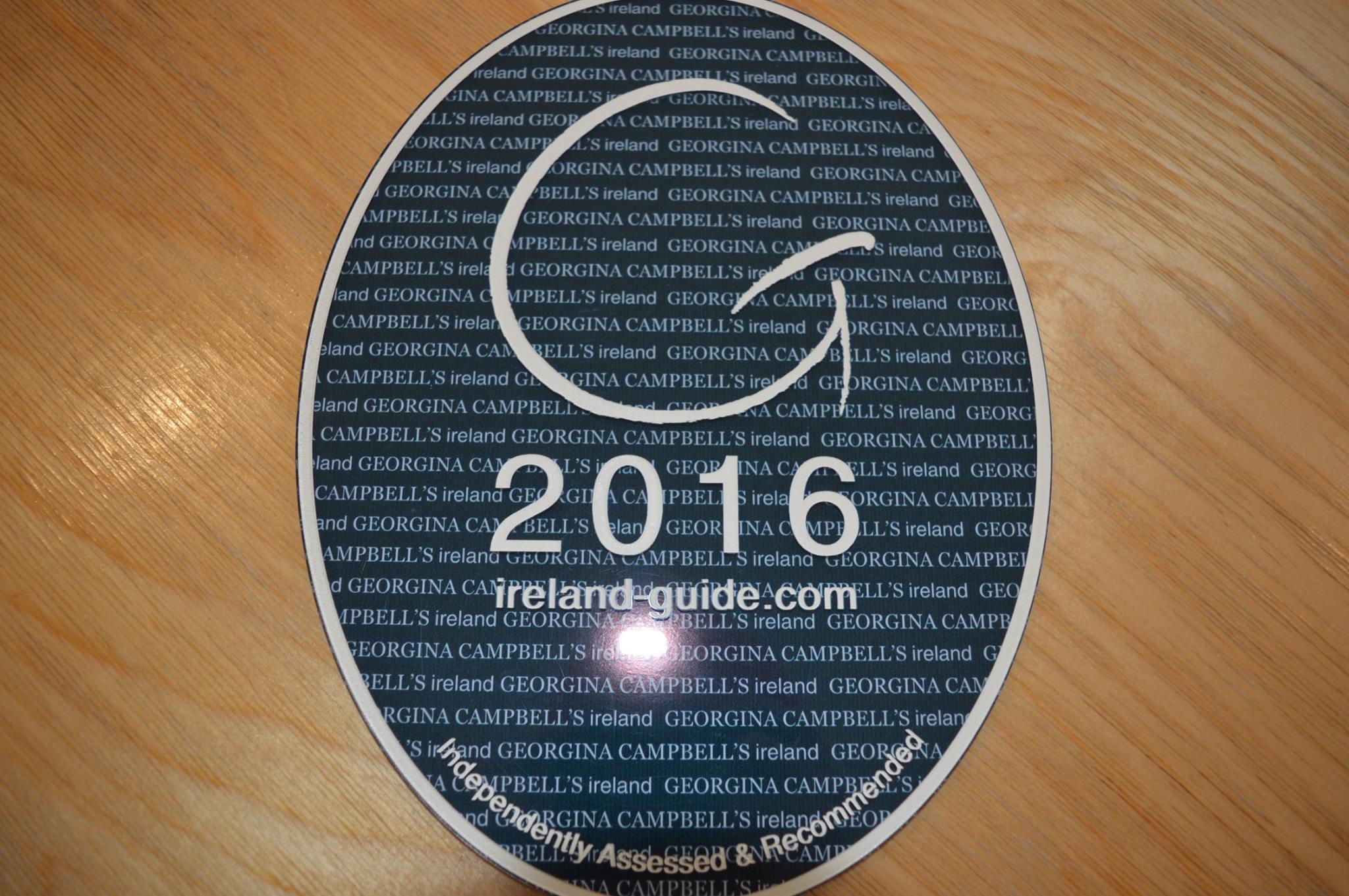 Georgina Campbell 2016 plaque